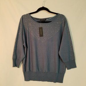 Cable & Gauge NWT Blue-Grey Sweater Large